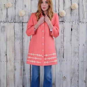 Lauren Moffatt 3/4 sleeve coat for Anthropologie